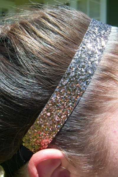 Brown Glitter Headband