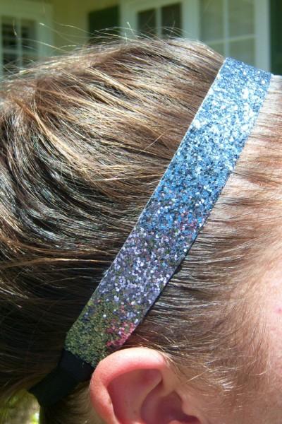 Dark Silver Glitter Headband