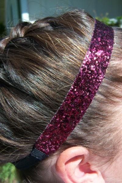 Maroon Glitter Headband