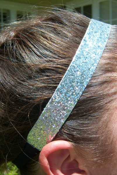 Silver Glitter Headband
