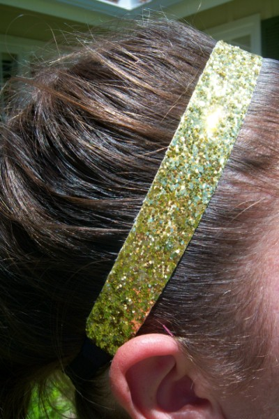 Yellow (Vegas Gold) Glitter Headband