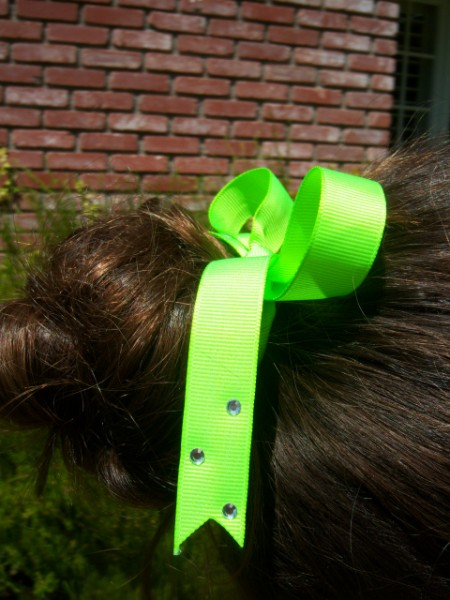 Florescent Lime Ribbon