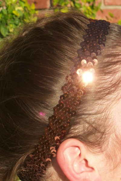 Bronze/ Brown Sequin Headband