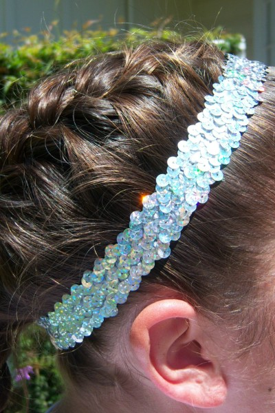 Hologram Silver Sequin Headband