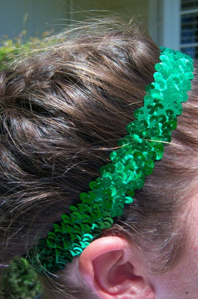 Green Sequin Headband