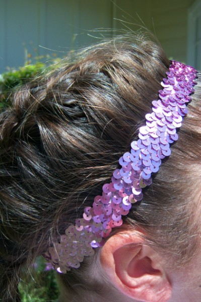 Pink Sequin Headband