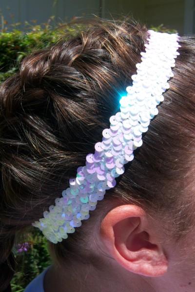 White Sequin Headband