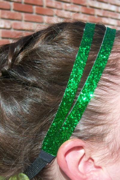 Green Glitter Splitz