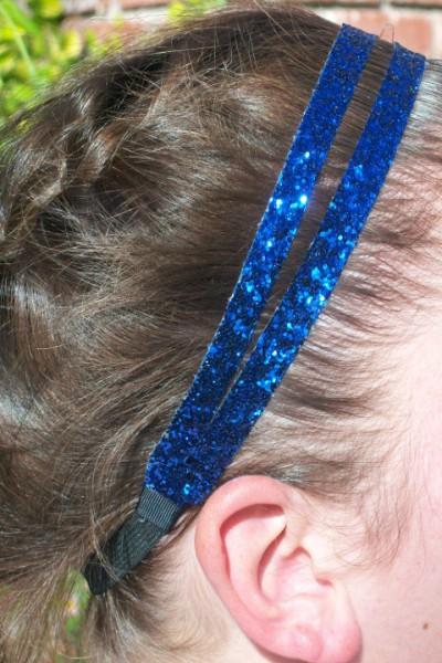 Navy Blue Glitter Splitz