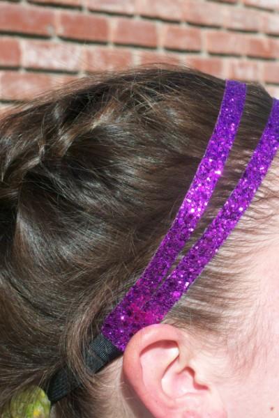 Purple Glitter Splitz