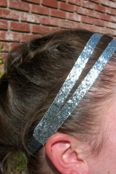 Silver Glitter Splitz