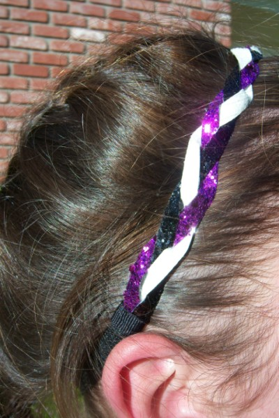 Black, White & Purple Braidz