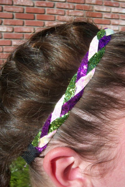 Purple, Lime & White Braidz