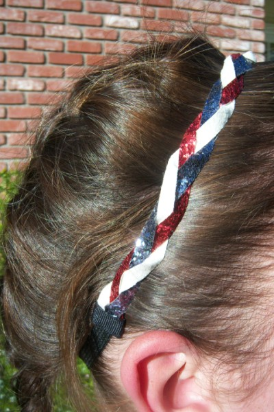 Red, Dark Silver & White Braidz