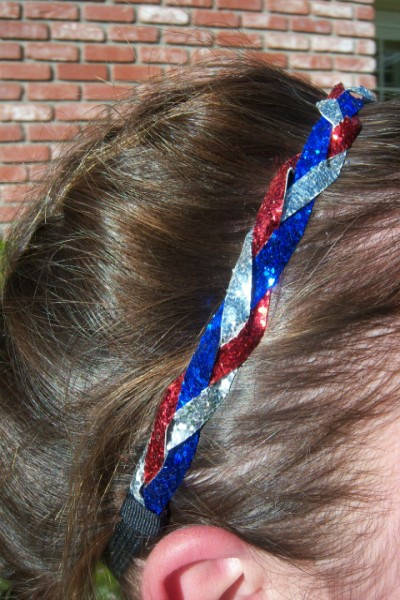 Red, Royal Blue & Silver Braidz