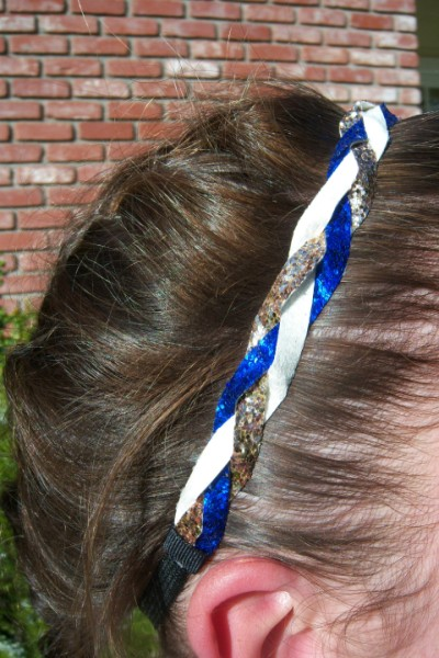 Royal, White & Gold Braidz
