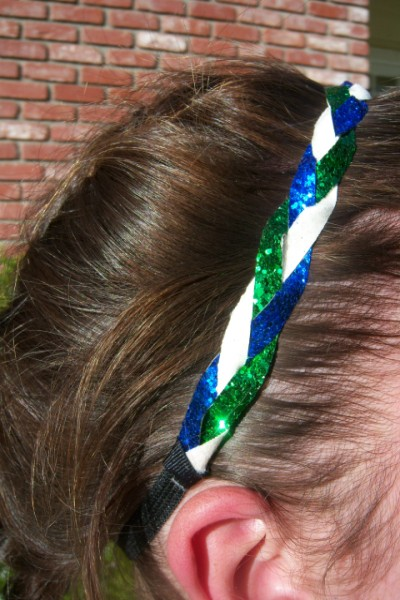 Royal Blue, White & Green Braidz