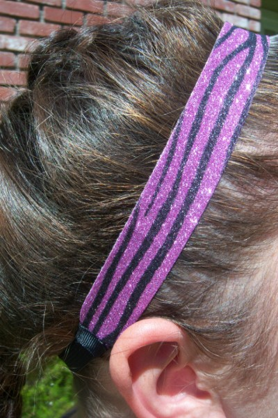 Pink- Black Zebra Headband
