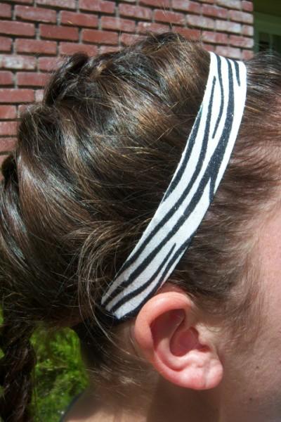 Limited Zebra White/ Black Glitter Headband