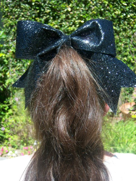 Black Bling Bow