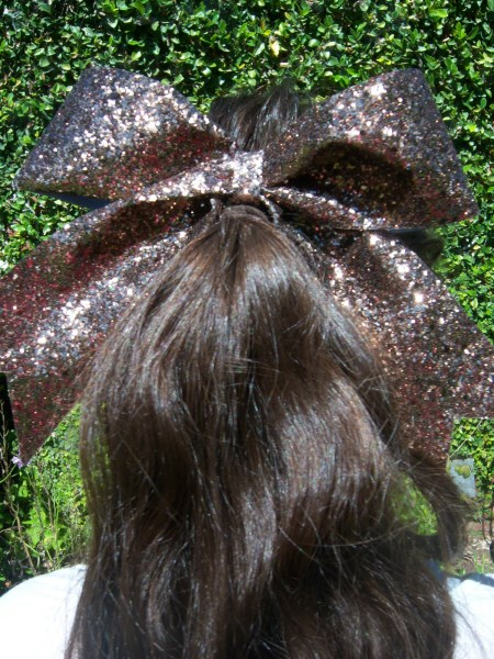 Brown-Bronze Bling Bow