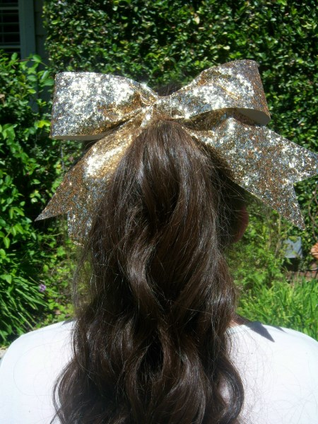 Gold Bling Bow