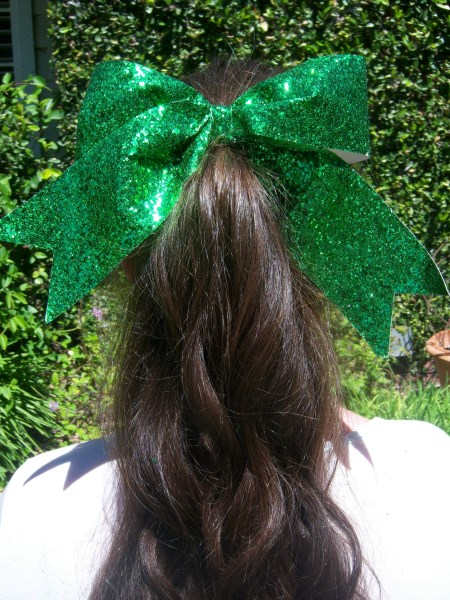 Green Bling Bow