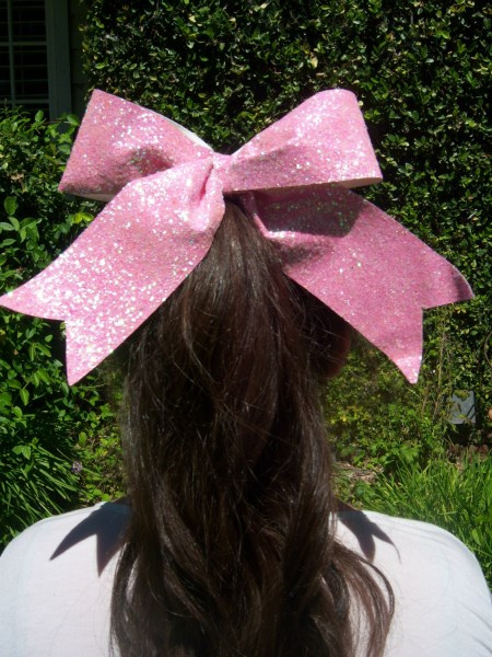 Shimmering Pink Bling Bow