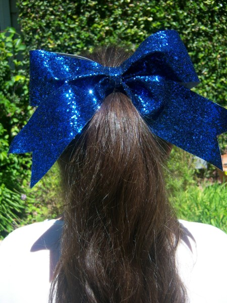 Navy Blue Bling Bow