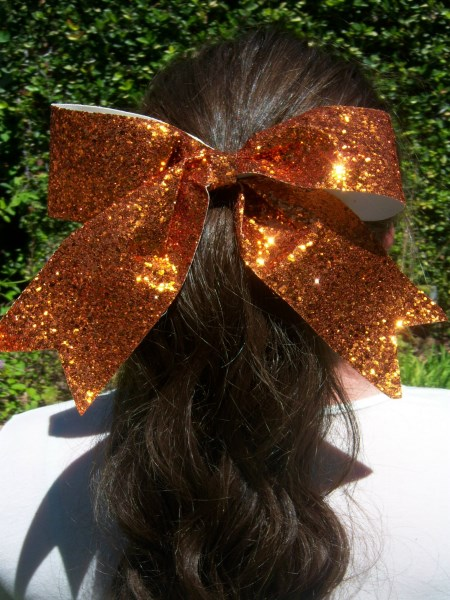 Orange Bling Bow
