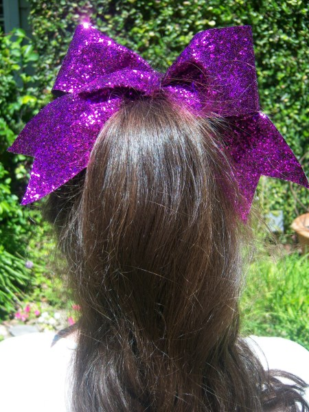 Purple Bling Bow