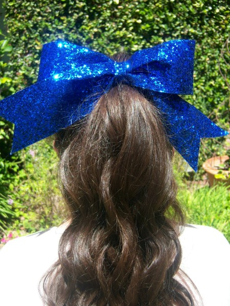 Royal Blue Bling Bow