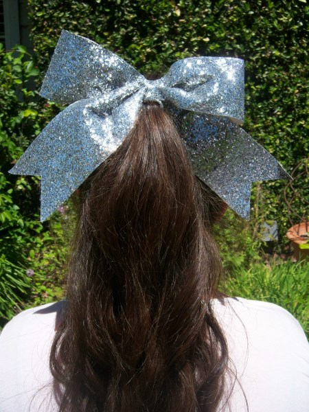 Silver Bling Bow