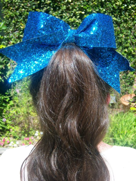 Teal Bling Bow