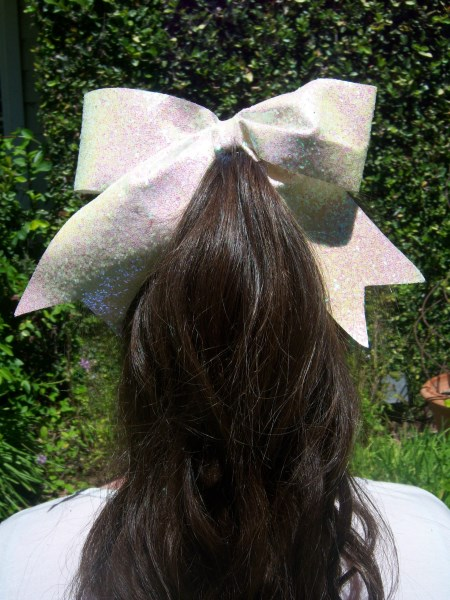 White Bling Bow