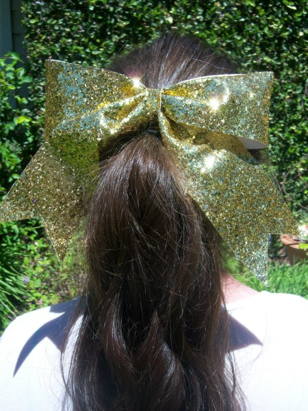 Yellow Bling Bow