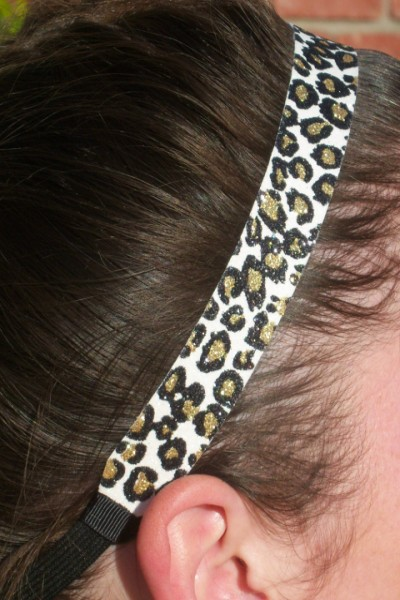 Snow Cheetah Headband