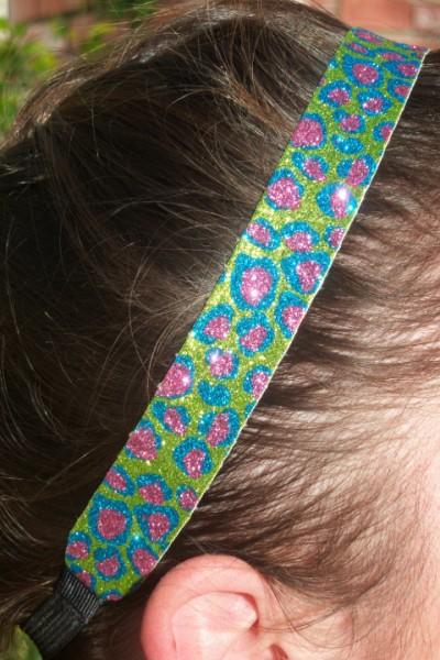Team Special 12 Cheetah Glitter Headbands