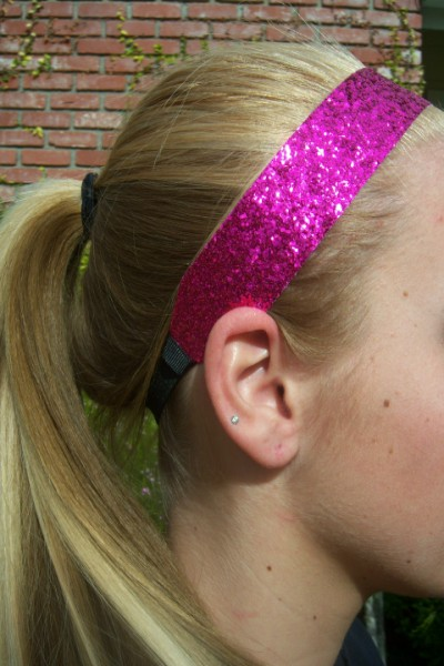 Custom Hot Pink Glitter Headband