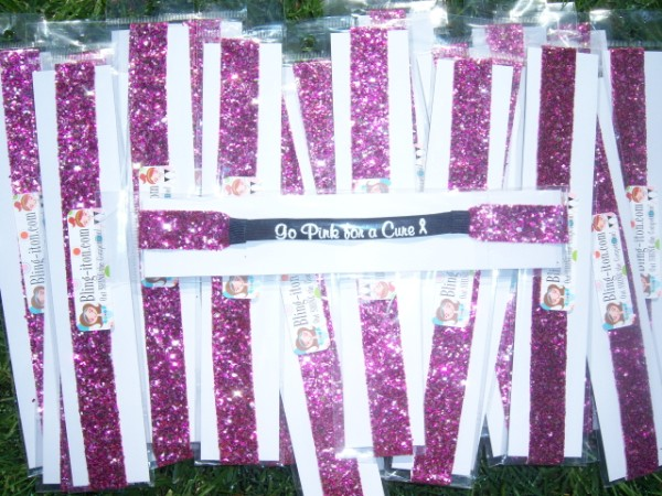 100 Limited Edition Multi-Pink Glitter Headband Go Pink Fundraiser Pack