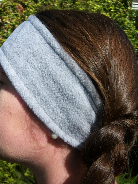 Gray Fleece Headwrap