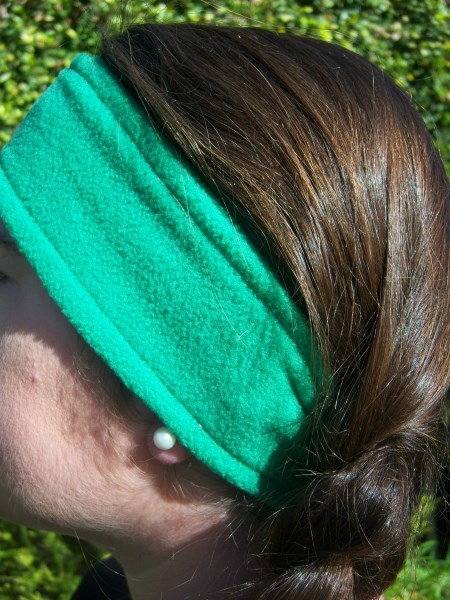 Green Fleece Headwrap