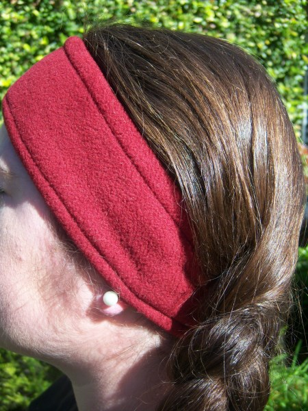 Maroon Fleece Headwrap