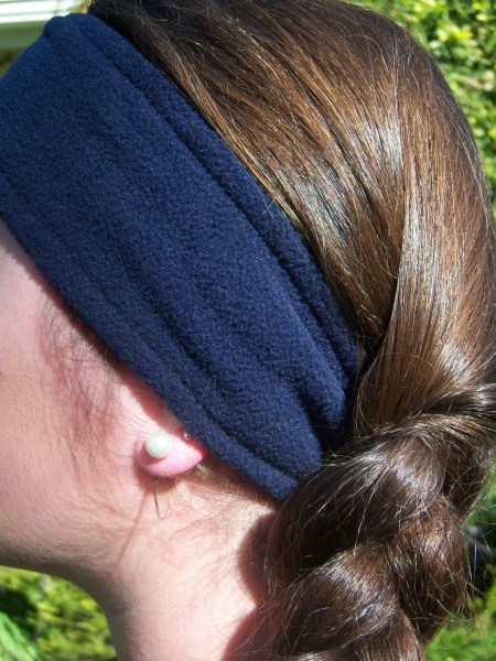 Navy Blue Fleece Headwrap