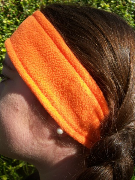 Orange Fleece Headwrap