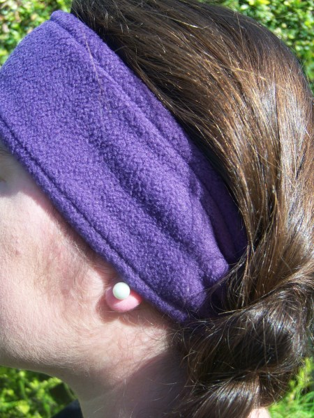 Purple Fleece Headwrap