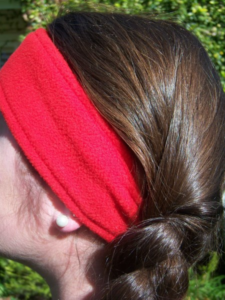 Red Fleece Headwrap