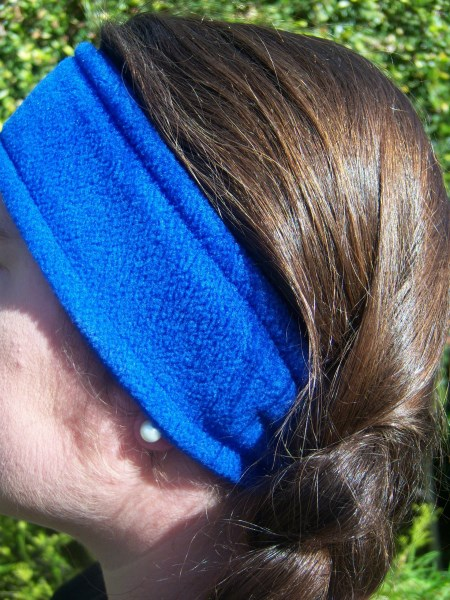 Royal Blue Fleece Headwrap