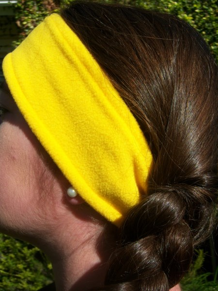 Yellow Fleece Headwrap