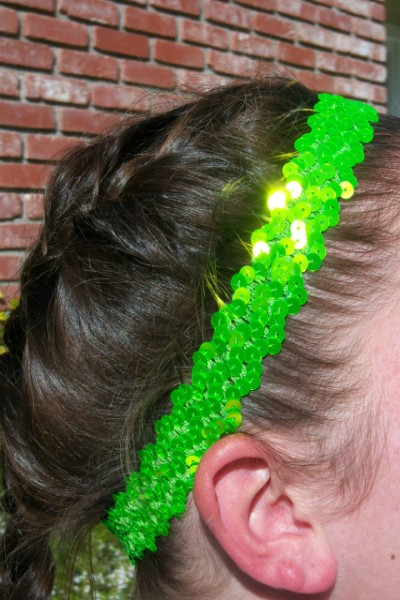 Florescent Lime Sequin Headband